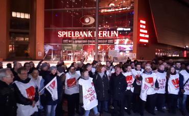 Streik bei der Spielbank Berlin