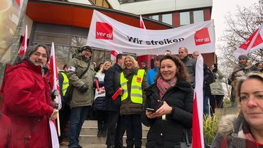 Streik DB HR Solutions GmbH in Eschborn 01